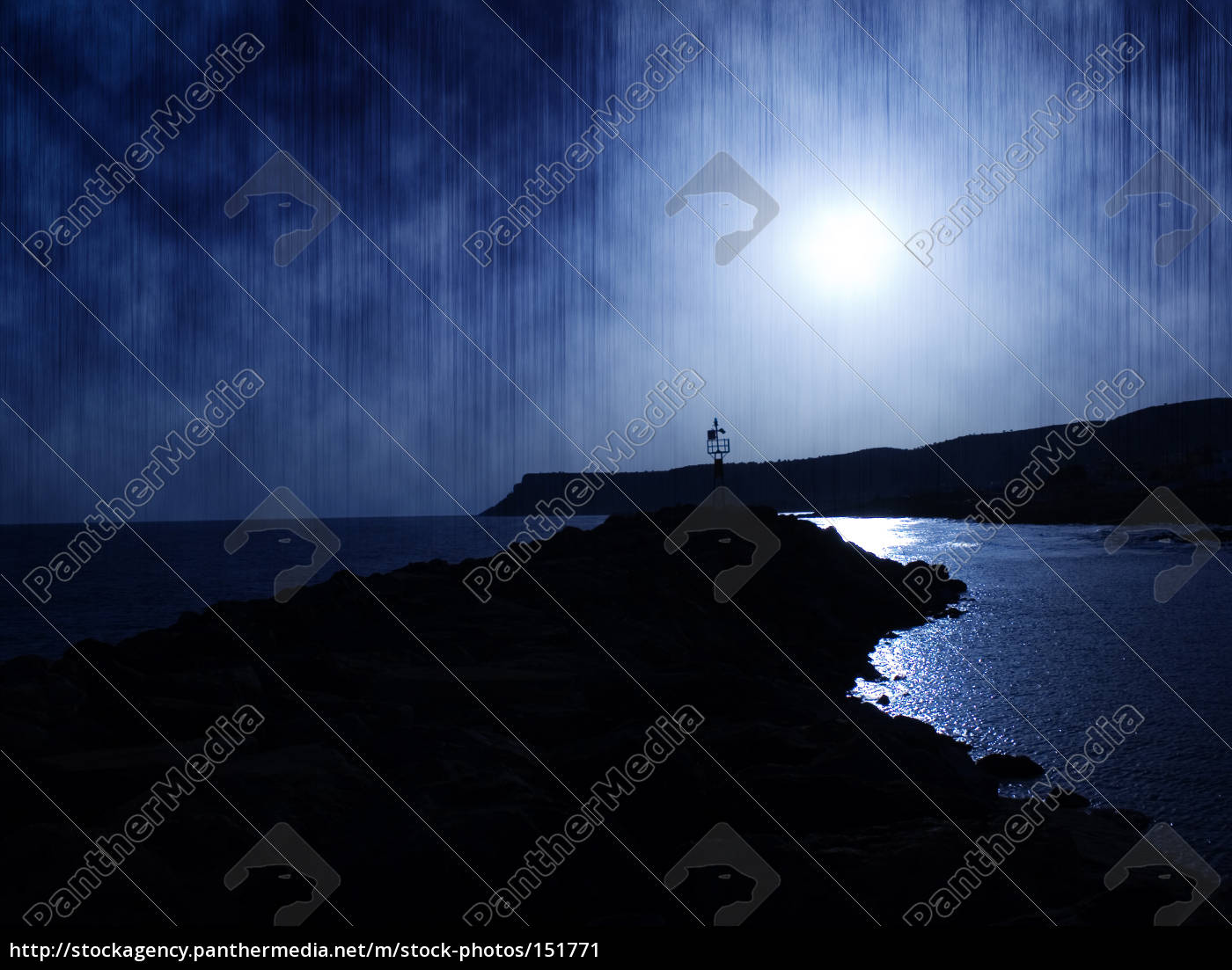 sun, sets, blue - 151771