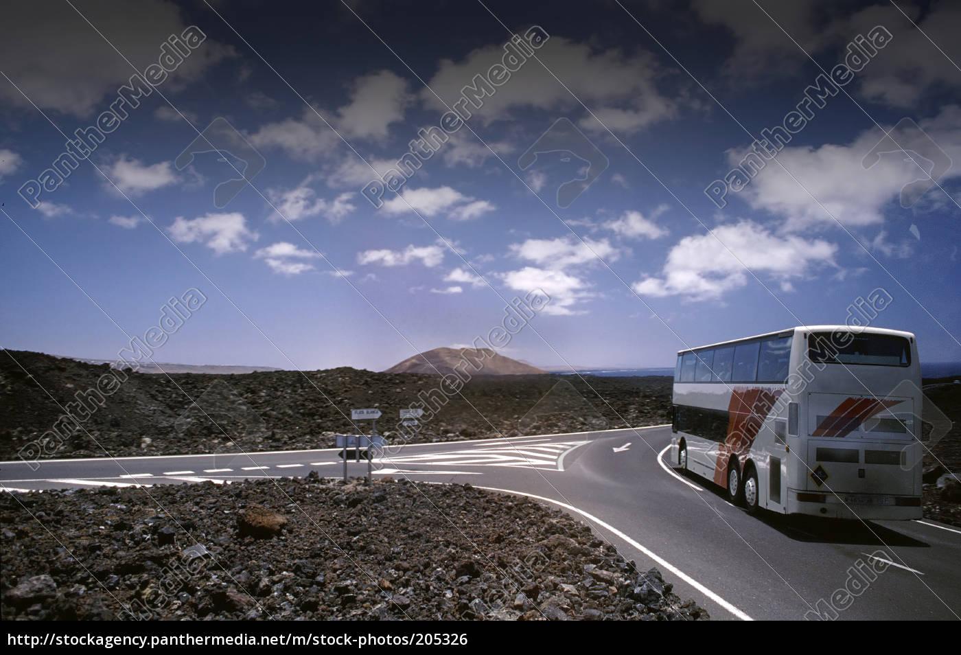 bus, tour, in, lanzarote - 205326