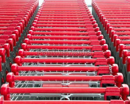 shopping, cart, red - 239757