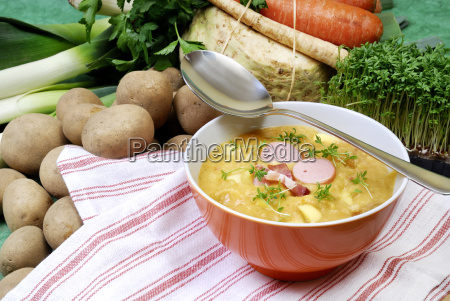 soup bowl and potato soup