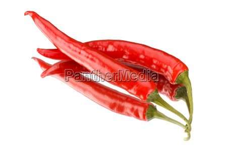 two, red, hot, peppers, on, a - 1612751