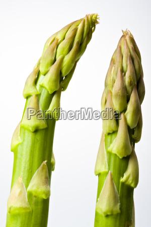 frischer gruener spargel