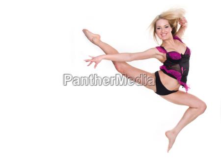 fitness flexible blonde