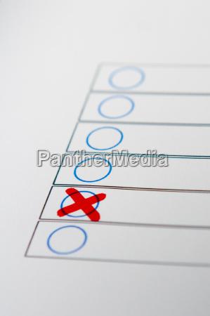 cruz marca selecionar eleicao escolha voto