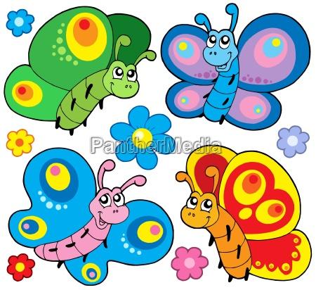 cute butterflies collection