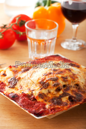 lasagne und gemuese