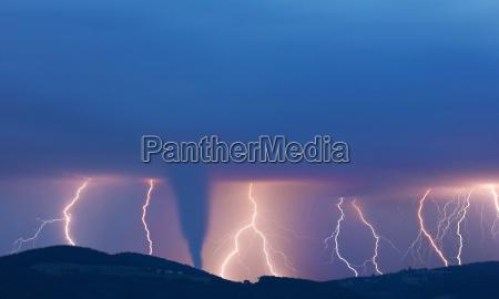 tornado and lightning