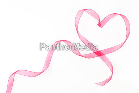 heart shaped ribbon with copy space