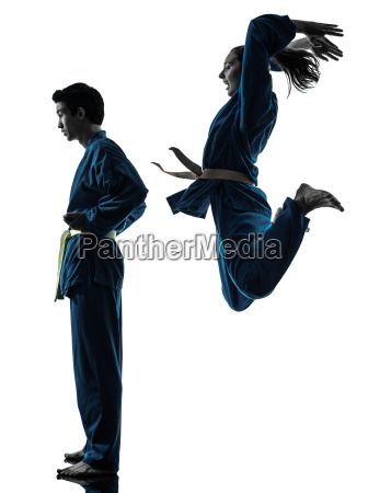 karate vietvodao martial arts man woman