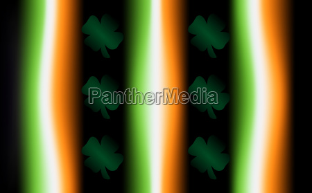 irish flag colors and clovers background