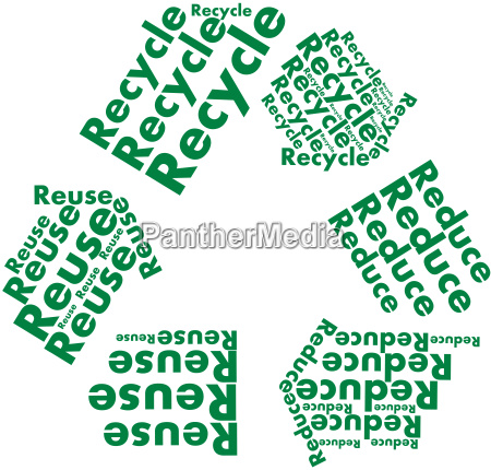 reduce reuse recyle symbol as text