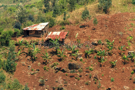 small country farm on a hill