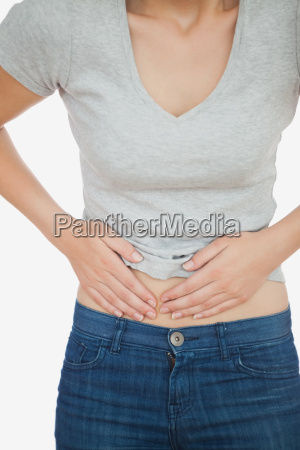 woman with abdominal pain