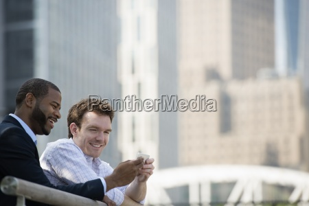 summer in the city businesspeople outdoors