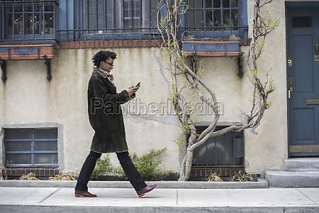 a woman in a warm coat