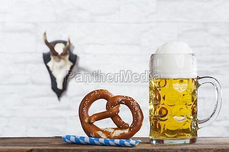 bayerische mass und eine brezel
