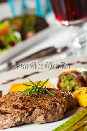 steak mit rosmarin