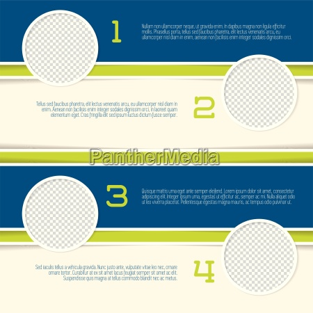 infographic design with circle photo containers