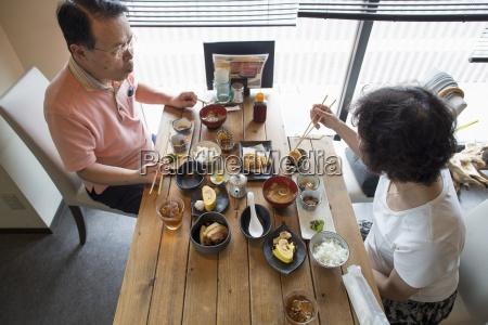 woman and man sitting at a