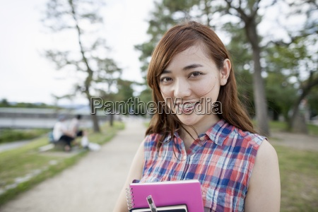 young woman in the park
