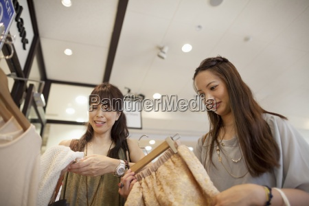 mother and daughter on a shopping