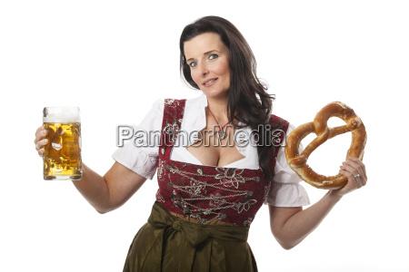 kobieta womane baba kostium bawarski dirndl