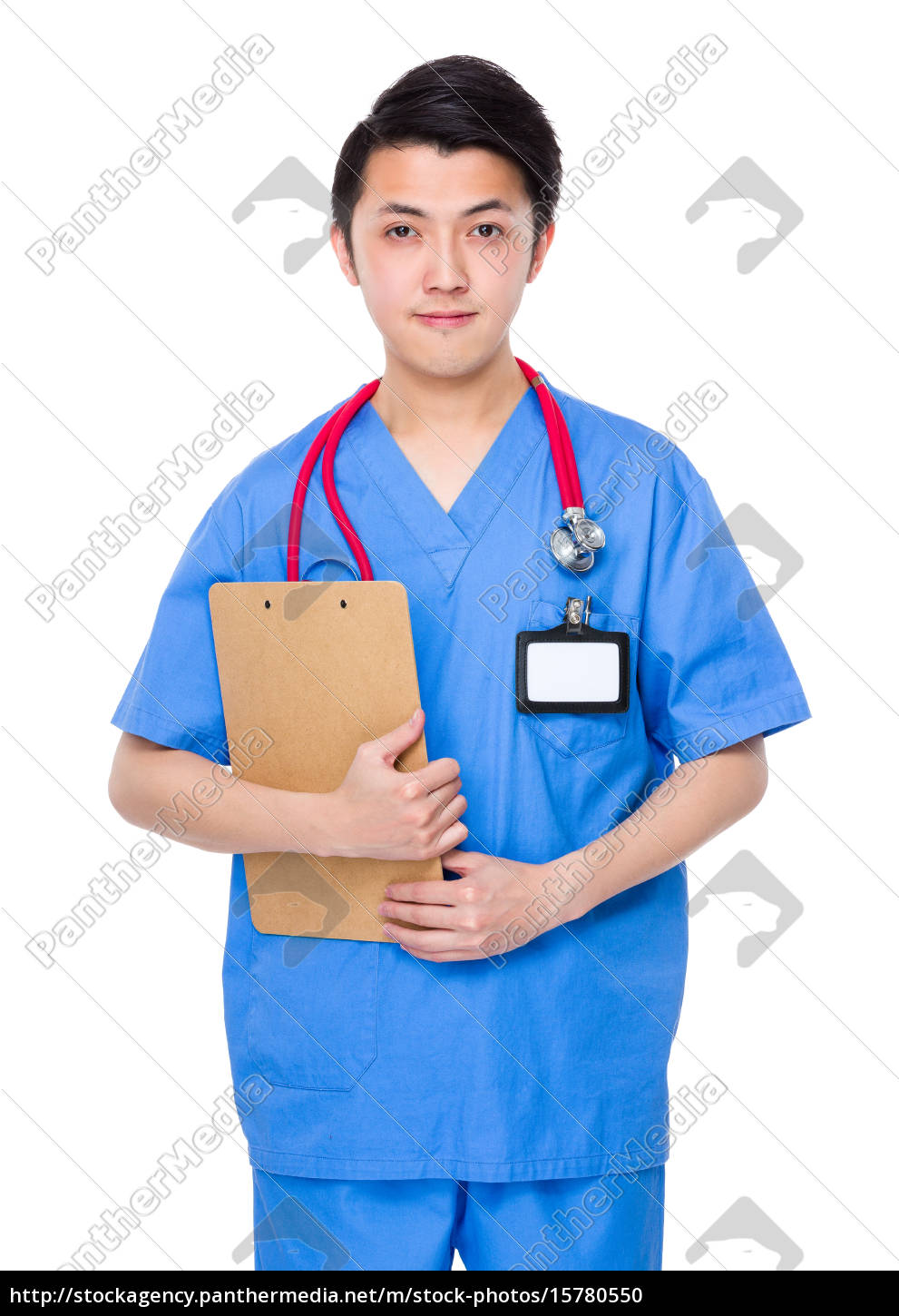 male, doctor, hold, with, clipboard - 15780550