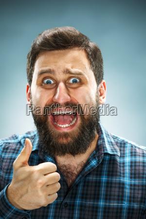 closeup headshot portrait happy handsome business