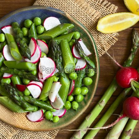 asparagus radish and pea salad