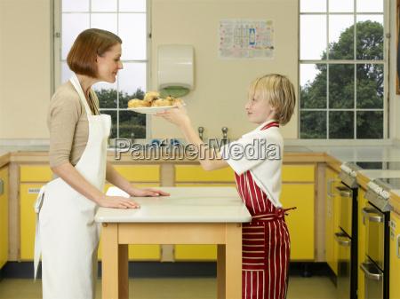 a teacher and a boy