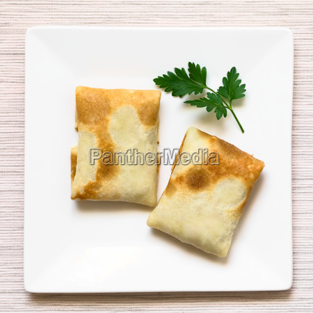 folded stuffed crepes