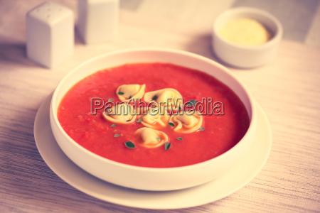 tomato, soup, with, tortellini - 19825511