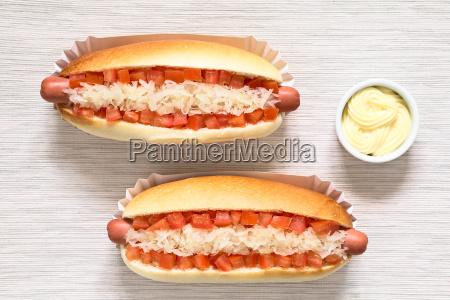 chilean completo hot dogs