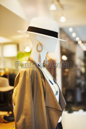mannequin in a fashion boutique in