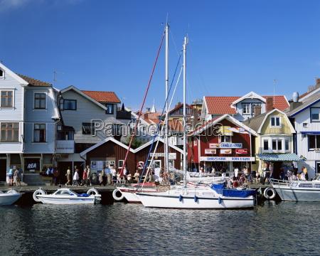 smogen fishing village bohuslan coast sweden