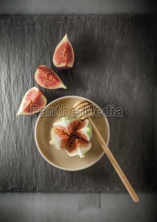 fresh fig on the plate