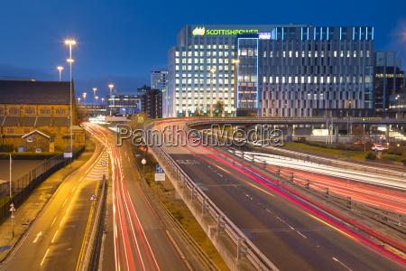 m8 motorway trail lights glasgow scotland