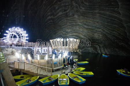 underground lake in the salt mine