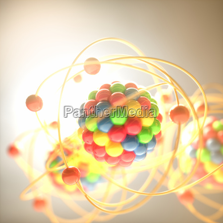molecular model colorful