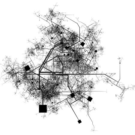 intricate fictional city map